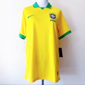🆕 Nike Brasil Brazil Mens Stadium Soccer Jersey